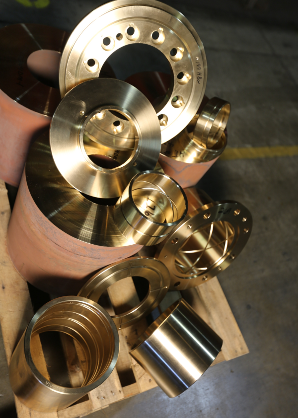 Custom Continuous Cast Bronze Parts