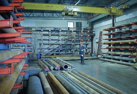 Gray and Ductile Iron Rods and Tubes on Warehouse Floor